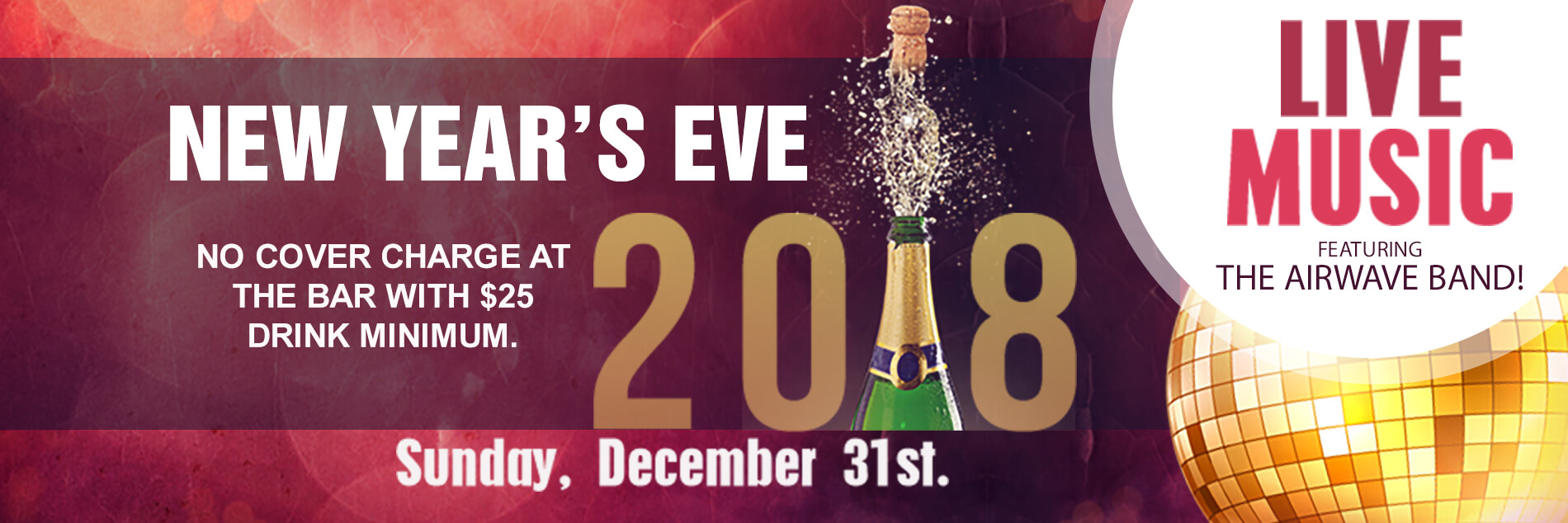 Happy New Years 2018 from The Celestial Steakhouse